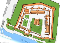 Tower Of London Map: Tower of london map from wonders of the world 1