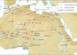 Trans saharan trade route map from pinterest 3
