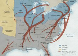 Underground Railroad Map: Underground railroad map from nationalgeographic 1