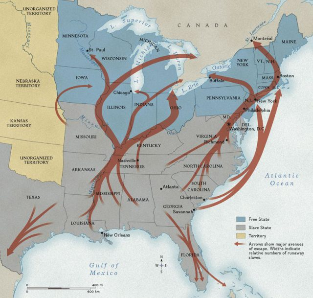 Underground railroad map from nationalgeographic 1