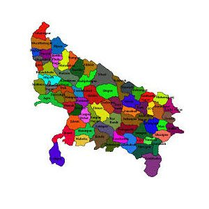 Up district map from in 1