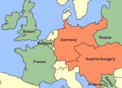 Western front ww1 map from bbc 7