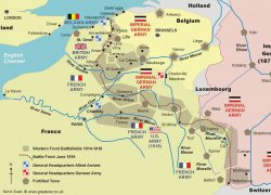 Western front ww1 map from pinterest 10