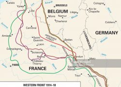 Western front ww1 map from pinterest 2