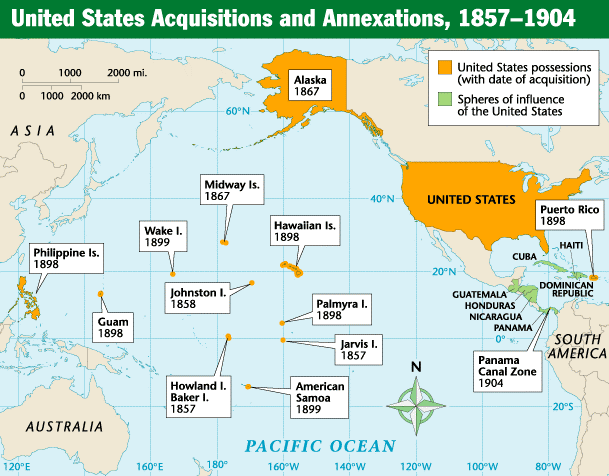 American Imperialism Map