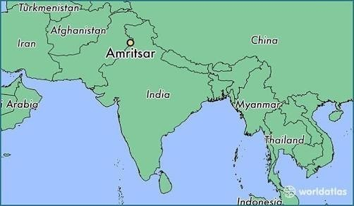 Amritsar In India Map