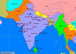Amritsar on political map of india from alearningfamily 7
