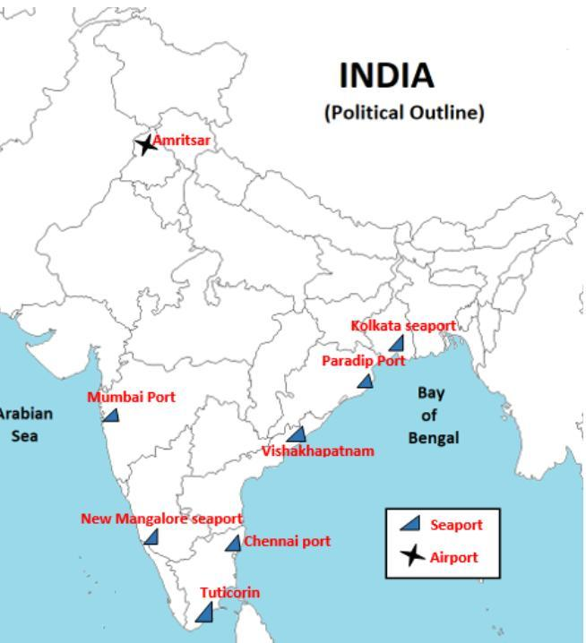 Amritsar On Political Map Of India From Brainly 1