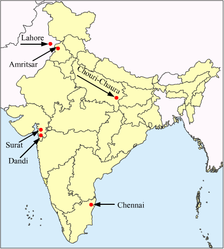 Amritsar On Political Map Of India