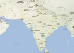 Amritsar on political map of india from worldmap1 3