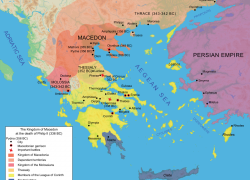 Ancient Macedonia Map: Ancient macedonia map from en 1