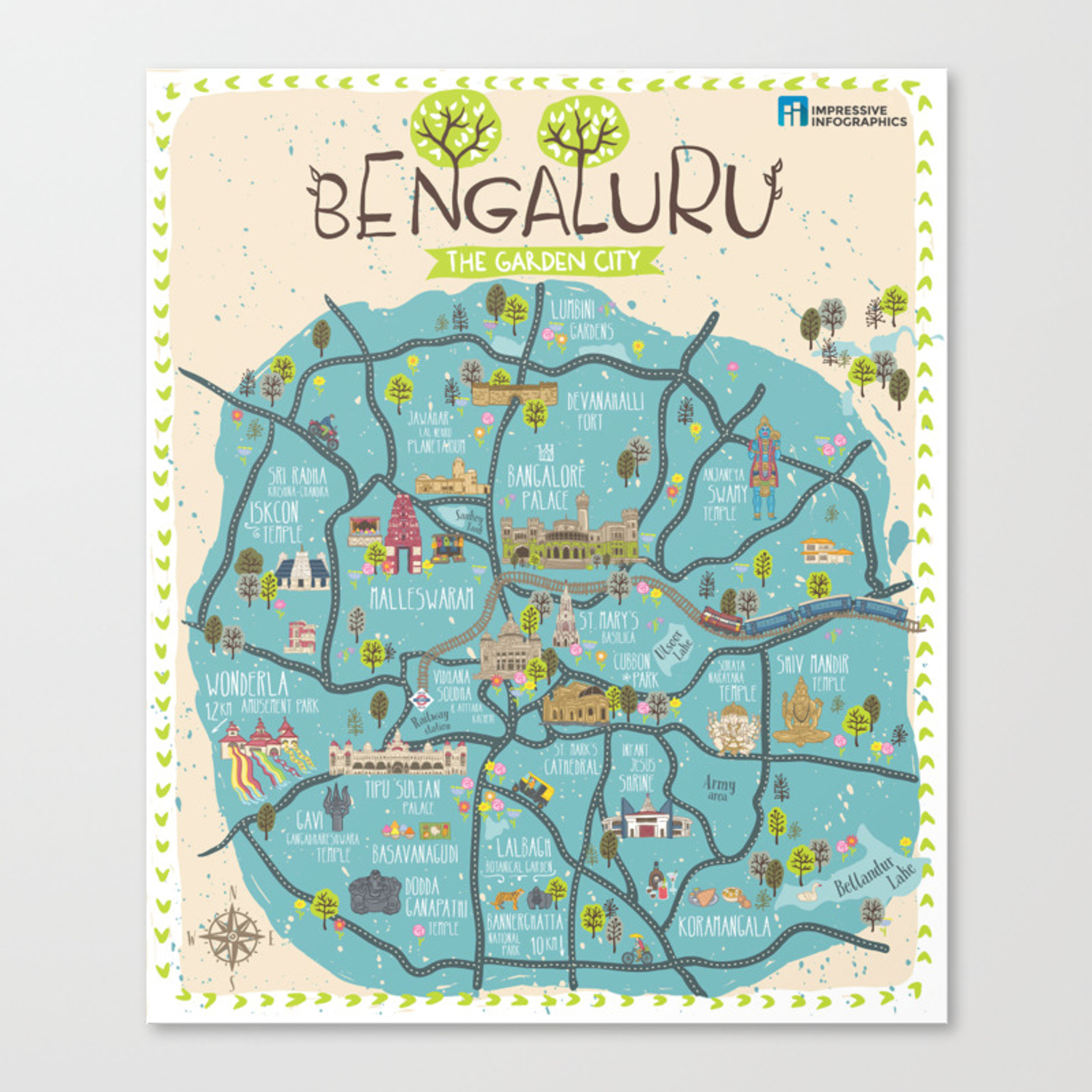 Bangalore Map From Society6 6