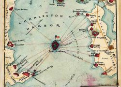 Battle Of Fort Sumter Map: Battle of fort sumter map from etsy 2