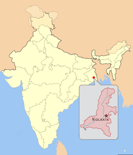 Calcutta In India Map