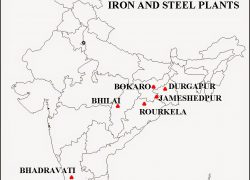 Durgapur iron and steel plant on map from sunilkumarbhatiwal 9