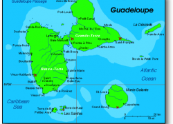 Guadeloupe map from frenchcaribbean 4