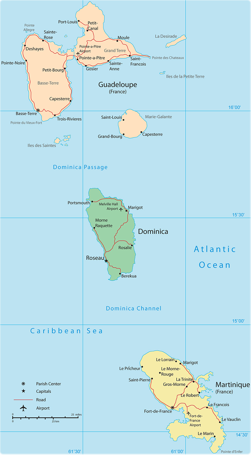 Guadeloupe Map From Geographicguide 6