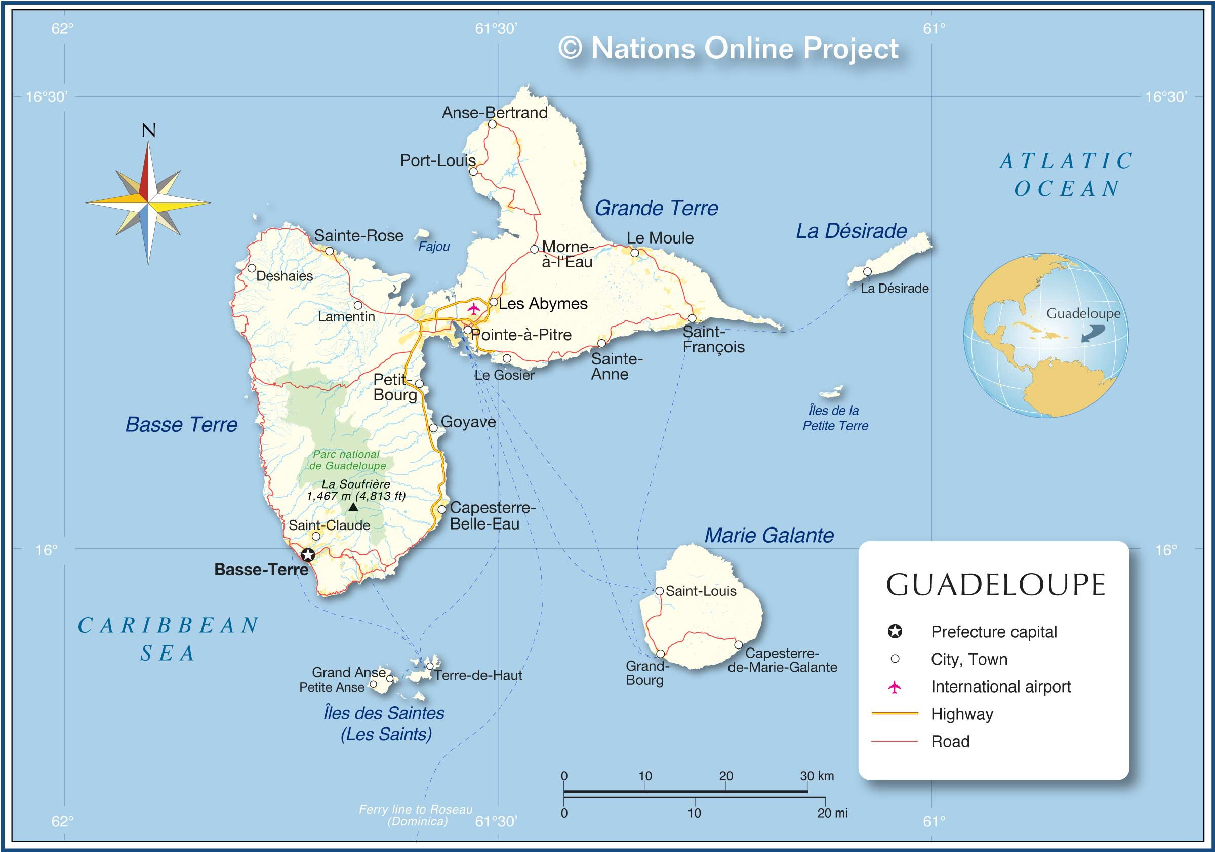 Guadeloupe Map From Nationsonline 1