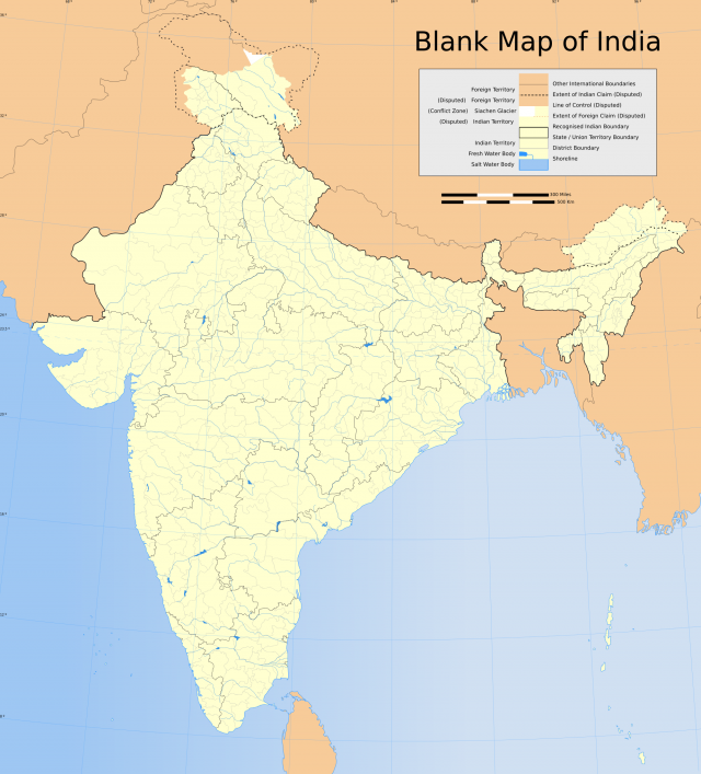 India Map 2020 Hd
