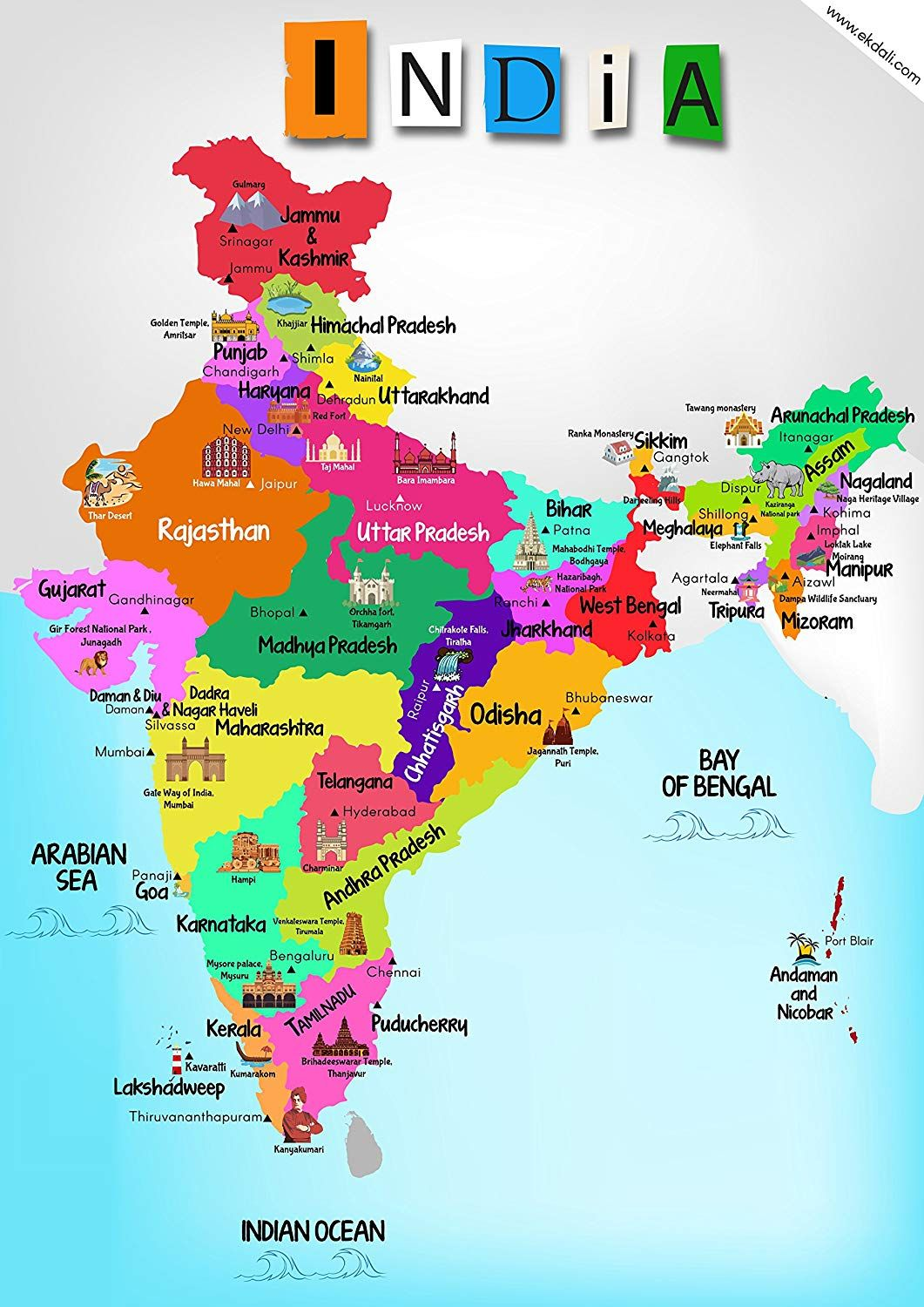 India Map 2020 Hd From Pinterest 1