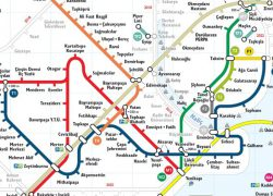 Istanbul metro map from tunneltime 7