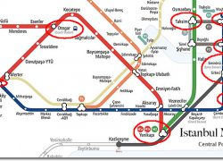 Istanbul metro map from turkeytravelplanner 2