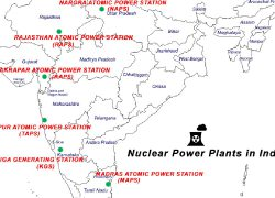 Kalpakkam nuclear power plant in india map from m 10