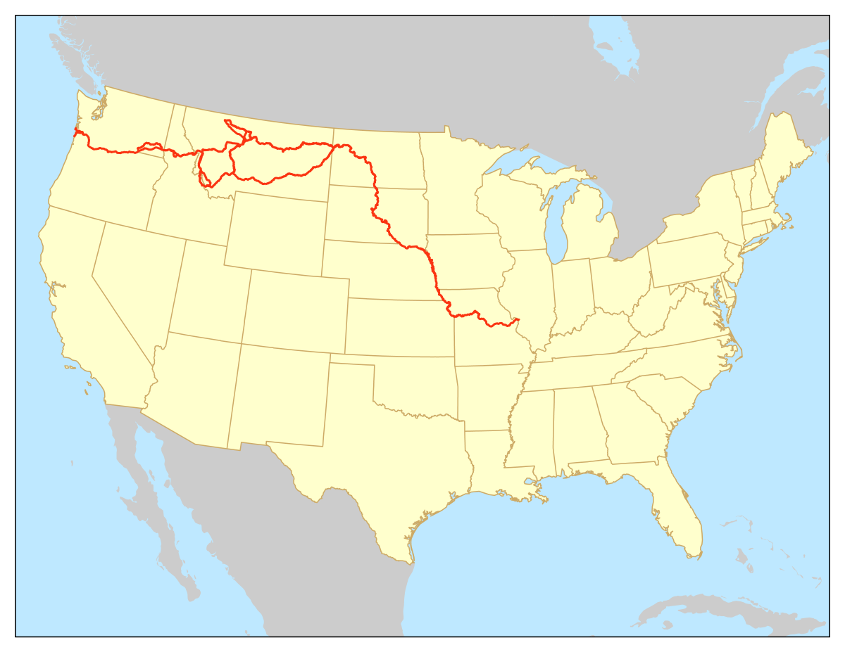 Lewis And Clark Expedition Map From En 7