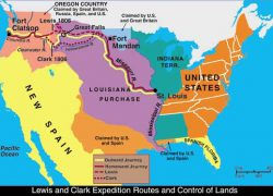 Lewis and clark expedition map from pinterest 10