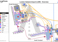 London gatwick airport map from br 1