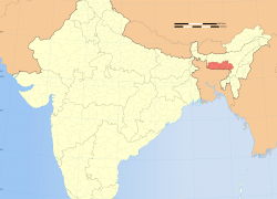 Meghalaya in india map from commons 7