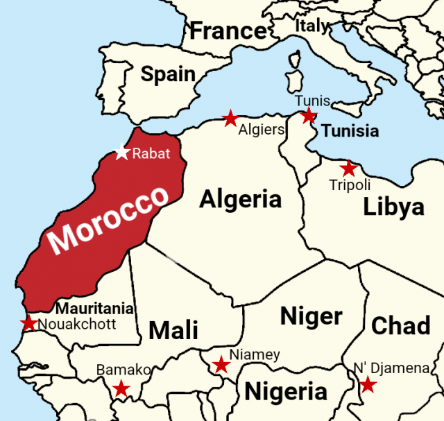 Morocco Map