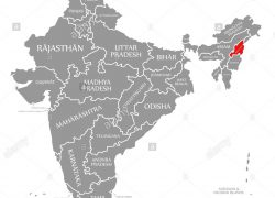 Nagaland map from alamy 9