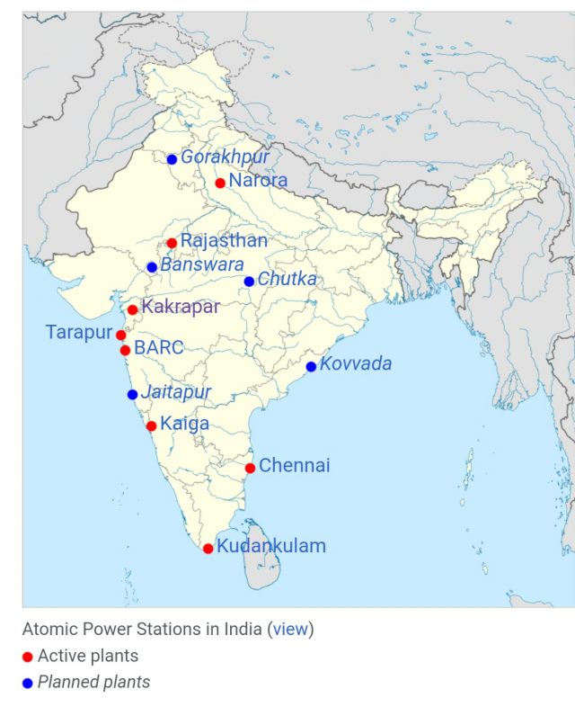 Narora Nuclear Power Plant In India Map