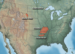 Ozark mountains map from arkhaven 9