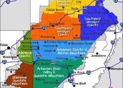 Ozark Mountains Map