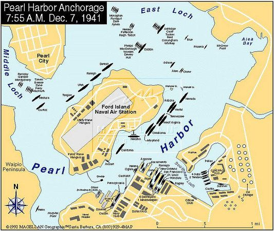 Pearl harbor map 1941 from pinterest 1
