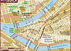 Pittsburgh map from lonelyplanet 9