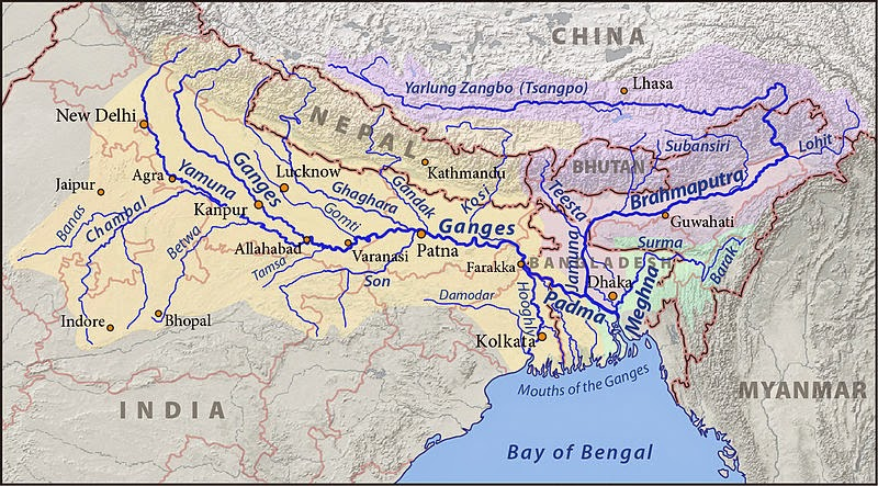 River Brahmaputra In India Map From Geologypage 9