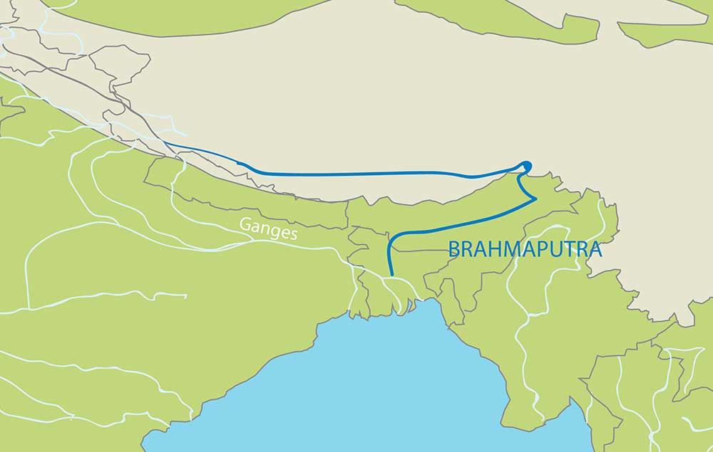 River Brahmaputra In India Map From Jmbaxigroup 10