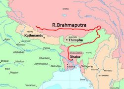 River brahmaputra in india map from pinterest 2