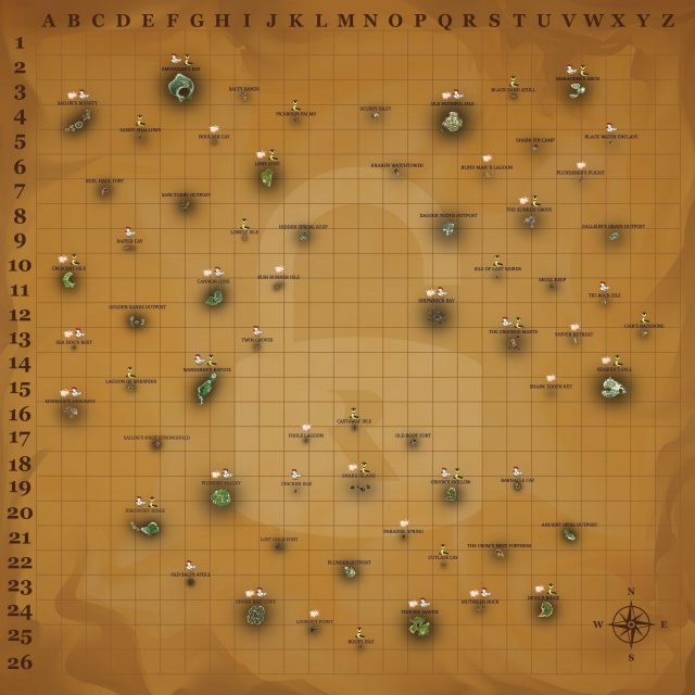 Sea Of Thieves Animal Map