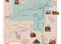 Sedona arizona map from visitsedona 1