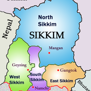 Sikkim map from in 2