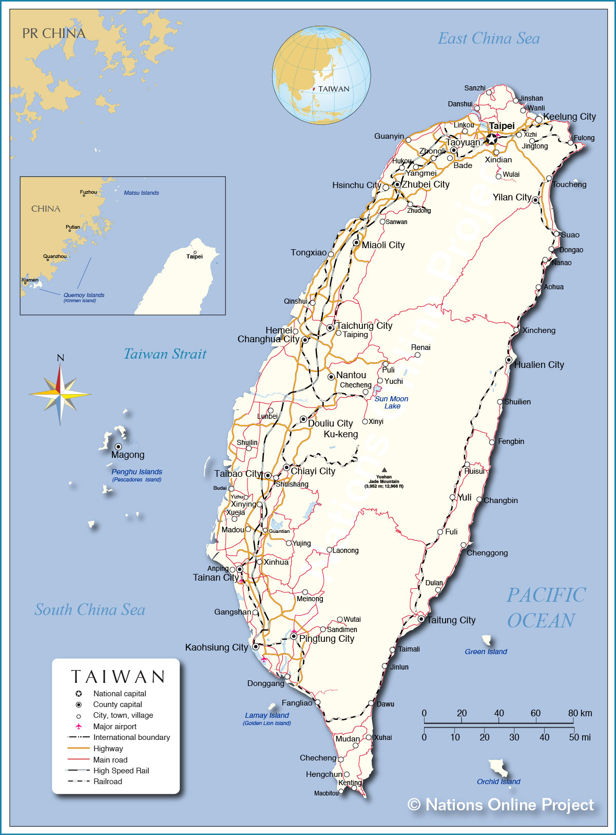 Taiwan Map From Nationsonline 7