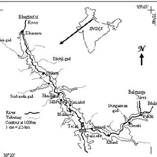 Tehri dam on map from researchgate 1