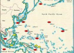 World war 2 in the pacific map from combinedfleet 9