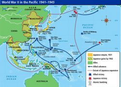 World war 2 in the pacific map from pinterest 1
