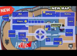 Among us airship map layout from youtube 6