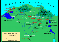 Nile delta map from commons 3